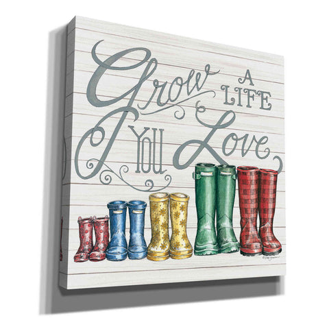 'Grow a Life You Love Boots' by Deb Strain, Canvas Wall Art