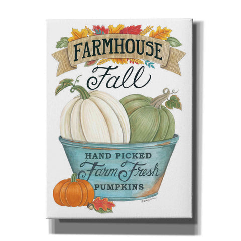 'Farmhouse Fall Pumpkins' by Deb Strain, Canvas Wall Art