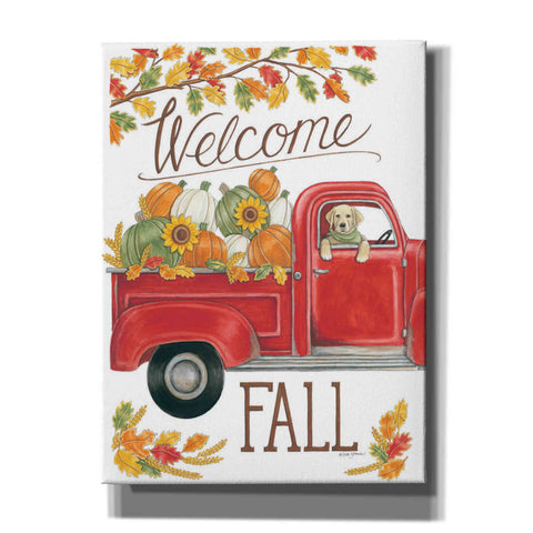 'Fall Truck & Lab' by Deb Strain, Canvas Wall Art