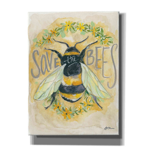 'Save the Bees' by Jessica Mingo, Canvas Wall Art