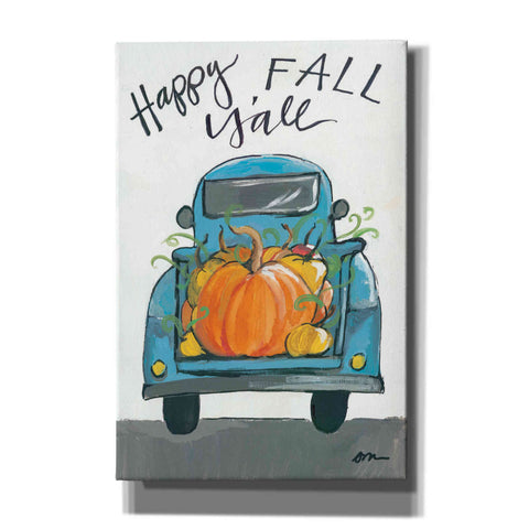'Happy Fall Y'all Truck' by Jessica Mingo, Canvas Wall Art