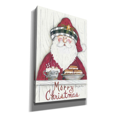 'Jolly St. Nick' by Mary Ann June, Canvas Wall Art