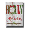 'Holly Jolly Christmas' by Mollie B, Canvas Wall Art