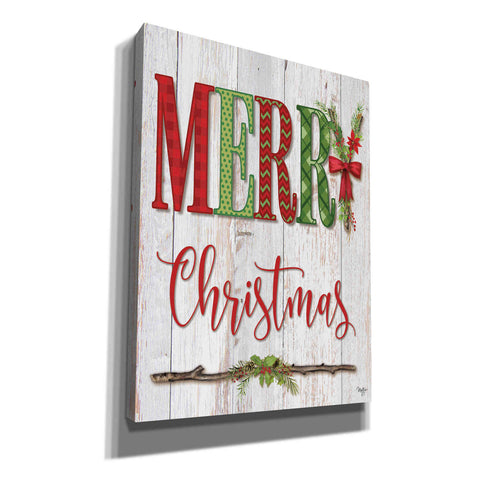 'Merry Christmas' by Mollie B, Canvas Wall Art