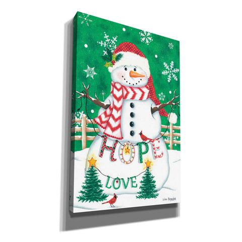 'Merry Snowman' by Lisa Kennedy, Canvas Wall Art