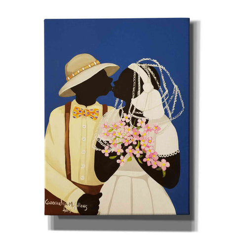 'You May Kiss The Bride' by Cassandra Gillens, Canvas, Wall Art