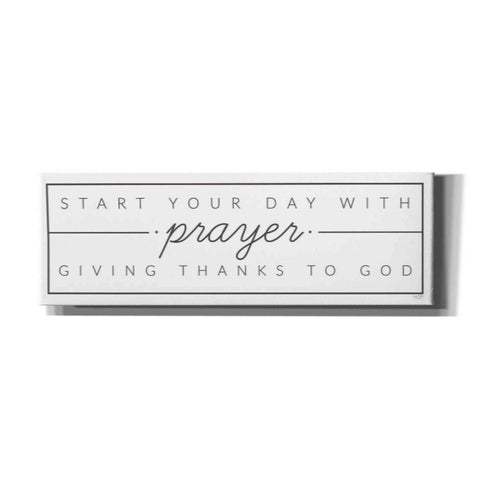 'Start Your Day with Prayer' by Lux + Me Designs, Canvas, Wall Art