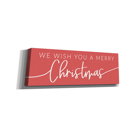 'We Wish You a Merry Christmas' by Lux + Me Designs, Canvas, Wall Art