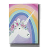 'Floral Unicorn I' by Roey Ebert, Canvas, Wall Art
