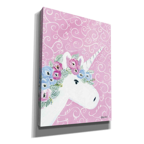'Floral Unicorn II' by Roey Ebert, Canvas, Wall Art