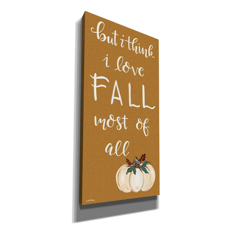 'I Love Fall Most of All' by April Chavez, Canvas, Wall Art
