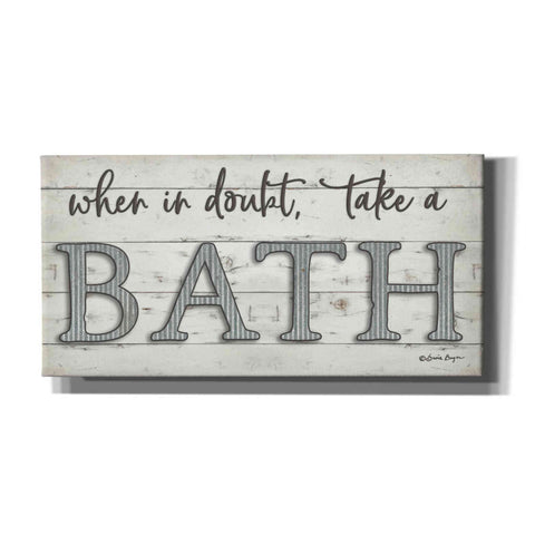 'When in Doubt Take a Bath' by Susie Boyer, Canvas, Wall Art