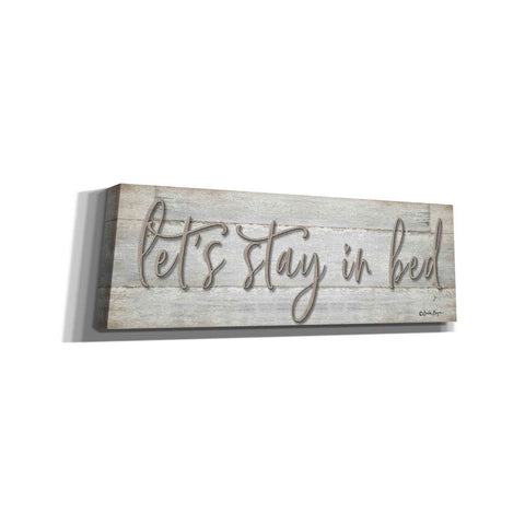'Let's Stay in Bed' by Susie Boyer, Canvas, Wall Art