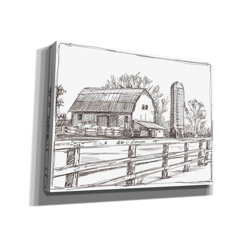 Image of 'Farm Sketch I' by Ethan Harper, Canvas Wall Art