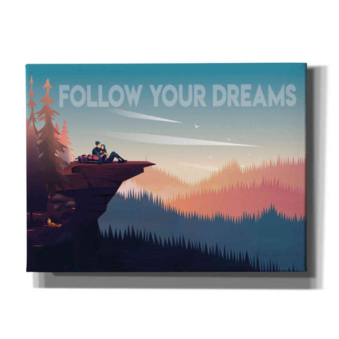 Image of 'Follow Your Dreams' by Omar Escalante, Canvas Wall Art