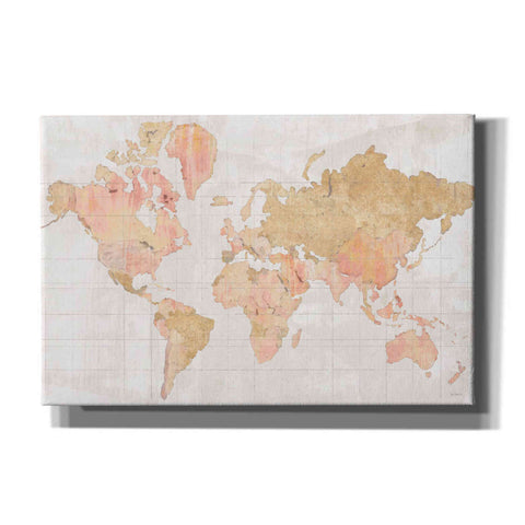 'Across the World Champagne' by Sue Schlabach, Canvas Wall Art
