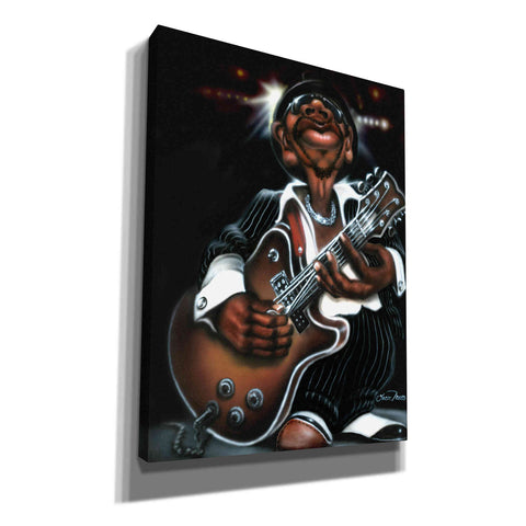 'Jazzman Cool' by Leonard Jones, Canvas Wall Art