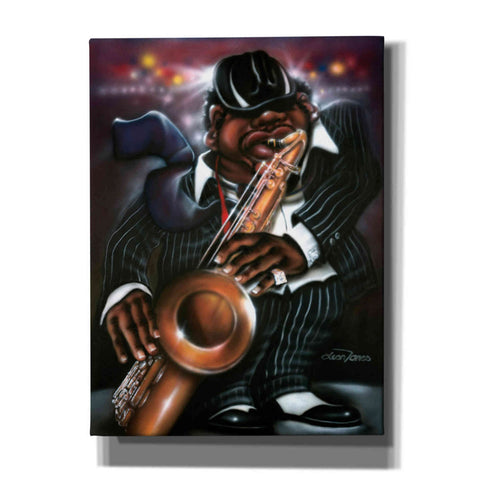 'Jazzman Moe' by Leonard Jones, Canvas Wall Art