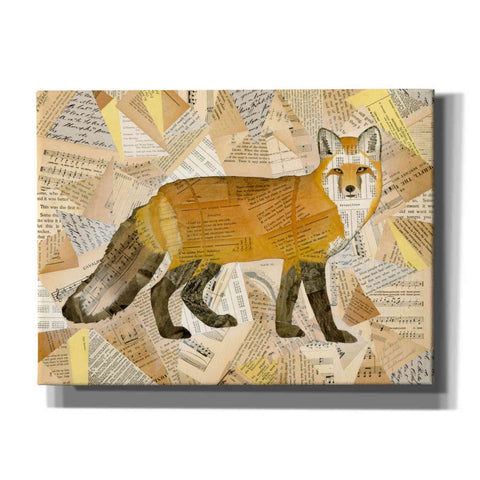 'Red Fox Collage I' by Nikki Galapon, Canvas Wall Art