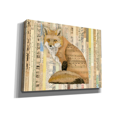 'Red Fox Collage II' by Nikki Galapon, Canvas Wall Art