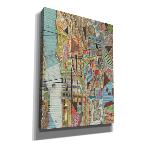 'Modern Map of New York I' by Nikki Galapon, Canvas Wall Art