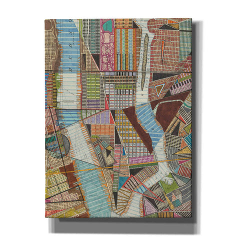 'Modern Map of New York II' by Nikki Galapon, Canvas Wall Art