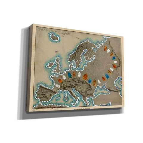 'Relief Map of Europe' by Nikki Galapon, Canvas Wall Art