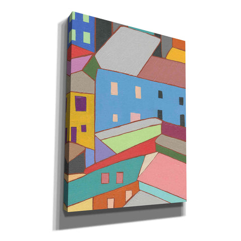 'Rooftops in Color I' by Nikki Galapon, Canvas Wall Art
