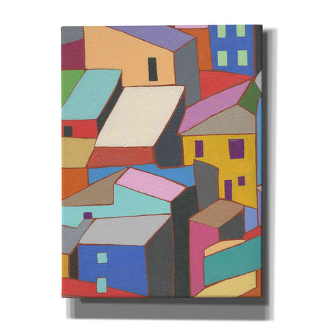 'Rooftops in Color II' by Nikki Galapon, Canvas Wall Art
