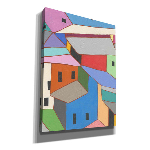 'Rooftops in Color XII' by Nikki Galapon, Canvas Wall Art