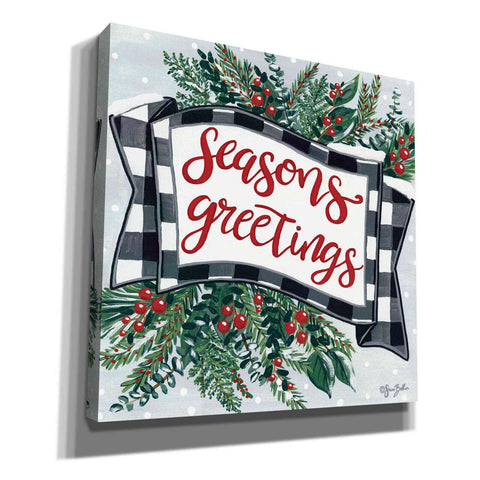 'Seasons Greetings Banner' by Sara Baker, Acrylic Glass Wall Art