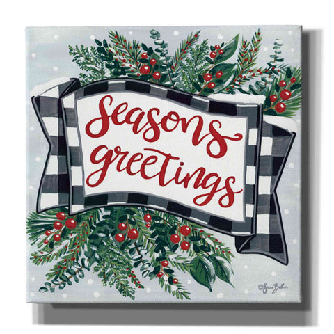 Image of 'Seasons Greetings Banner' by Sara Baker, Acrylic Glass Wall Art