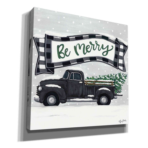 'Be Merry Truck' by Sara Baker, Acrylic Glass Wall Art