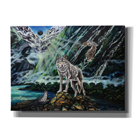 'Wolfpack The New Moon' by Jan Kasparec, Canvas Wall Art