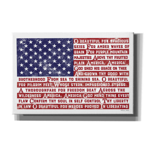 'America the Beautiful Flag' by Susan Ball, Canvas Wall Art
