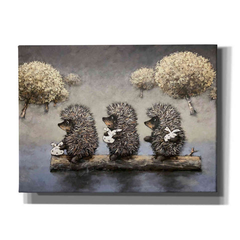 'Hedgehog Dreamland' by Alexander Gunin, Canvas Wall Art