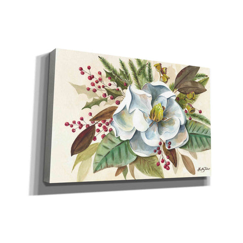 'Christmas Magnolia' by Kelley Talent, Canvas Wall Art