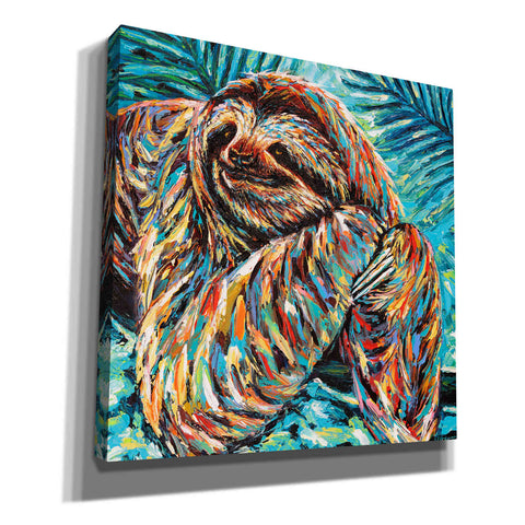 'Painted Sloth II' by Carolee Vitaletti, Canvas Wall Art