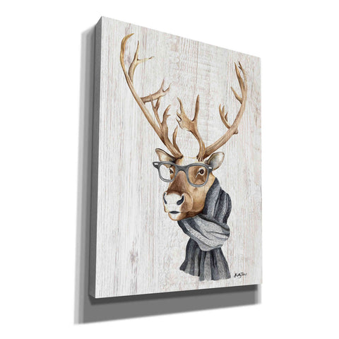 'Hipster Reindeer' by Kelley Talent, Canvas Wall Art