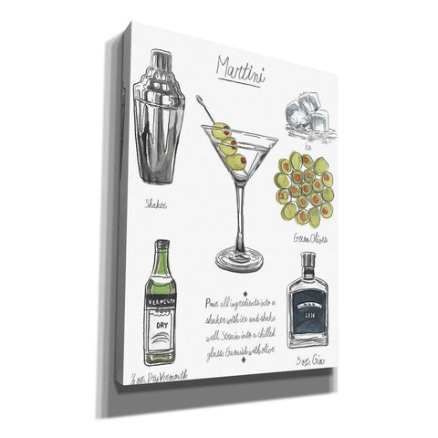 'Classic Cocktail-Martini' by Naomi McCavitt, Canvas Wall Art