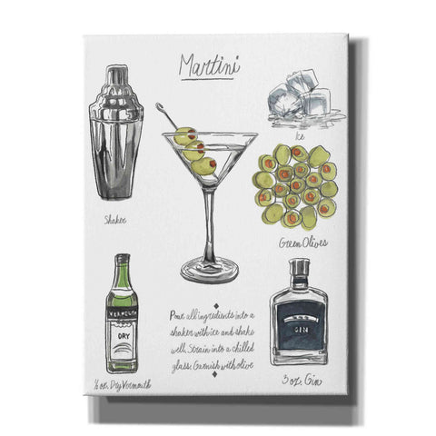 Image of 'Classic Cocktail-Martini' by Naomi McCavitt, Canvas Wall Art