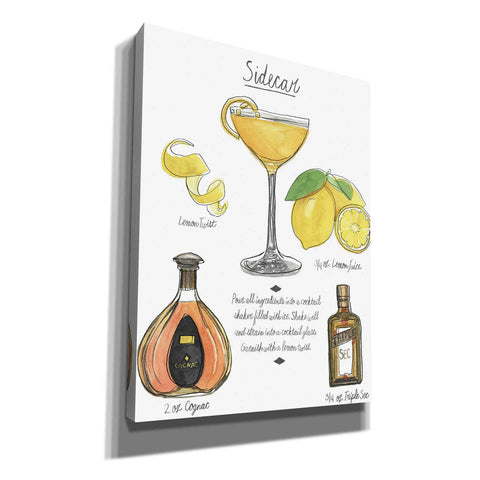 'Classic Cocktail-Sidecar' by Naomi McCavitt, Canvas Wall Art