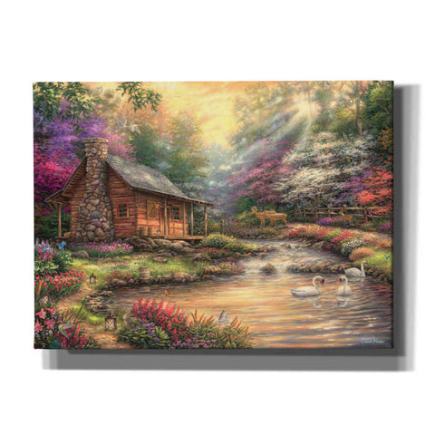 'Brookside Retreat' by Chuck Pinson, Canvas Wall Art