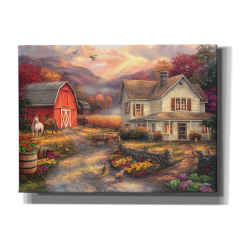 'Relaxing on the Farm' by Chuck Pinson, Canvas Wall Art