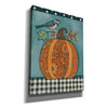 """Patterned Pumpkin and Bird"" by Bernadette Deming, Canvas Wall Art"