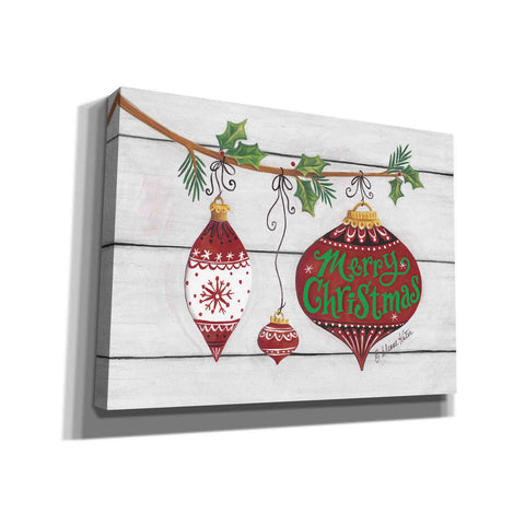 'Merry Christmas Ornaments' by Diane Kater, Canvas Wall Art