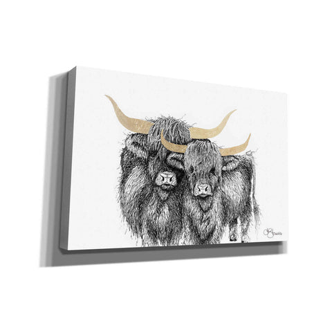 Image of 'Highland Cattle' by Hollihocks Art, Canvas Wall Art