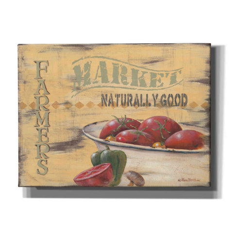 'Farmer's Market, Naturally Good' by Pam Britton, Canvas Wall Art