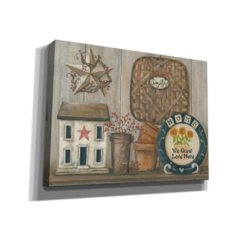 'Home Country Shelf' by Pam Britton, Canvas Wall Art