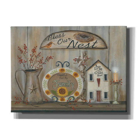 'Bless Our Nest Country Shelf' by Pam Britton, Canvas Wall Art